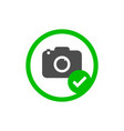 camera icon photo allowed sign vector image