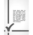 check symbol dark infographics vector image vector image