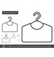clothes hanger line icon vector image vector image
