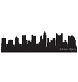 columbus ohio skyline detailed silhouette vector image vector image