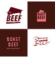 concept meat restaurant logo vector image