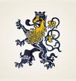 creative abstract lion logo design vector image