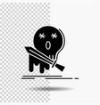 death frag game kill sword glyph icon on vector image vector image