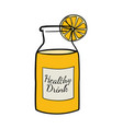 doodle of a bottle of orange juice vector image vector image