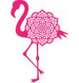 flamingo mandala icon vector image vector image