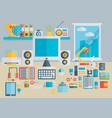 flat modern design concept of creative school vector image vector image
