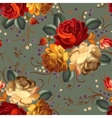 Floral seamless pattern with vintage flowers vector image vector image