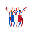 france flag french people vector image vector image
