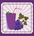 fresh fruit juice vector image