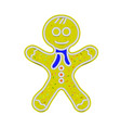 gingerbread man isolated sweet classic christmas vector image
