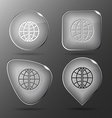 Globe Glass buttons vector image vector image