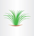 green grass abstract design element vector image vector image