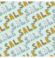 Hand drawn Sale pattern Doodle discount vector image