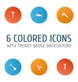 handtools icons set collection of screw axe vector image vector image