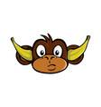 hear no evil monkey vector image vector image