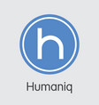 humaniq - virtual currency vector image vector image