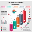 Infographics elements Three dimensional columns vector image vector image