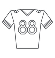 jersey player american football outline vector image vector image