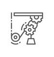 lifting mechanism working line industrial crane vector image
