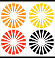 logo shape element in 3 colors with radial vector image