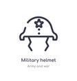 military helmet outline icon isolated line from vector image vector image