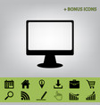 monitor with brush sign black icon at vector image vector image