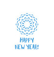 new year greeting card with blue geometric vector image vector image