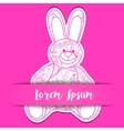 Paper background with toy bunny vector image vector image