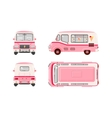 Pink Ice cream car vector image vector image