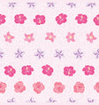 pink tropical flowers stripes repeat pattern print vector image vector image