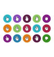 Pixel cursors circle icons mouse hands vector image