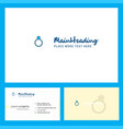 ring logo design with tagline front and back vector image