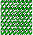 Seamless soccer ball pattern vector image