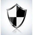 Silver shield with reflection vector image vector image