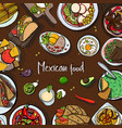 square background with mexican food traditional vector image