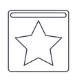 star square cartoon vector image