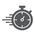 stopwatch glyph icon watch and countdown timer vector image vector image