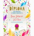 template kids diploma vector image