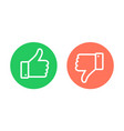 thumbs up thumbs down emblems like dislike icons vector image