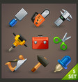 tools icon set-5 vector image