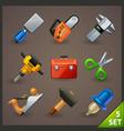 tools icon set-5 vector image vector image