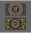 vip membership card certificate template vector image