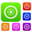 gear wheel set collection vector image