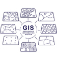 GIS Concept Data Layers for Infographic vector image