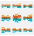 Arrows Icons set - Isolated On white Background vector image