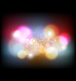 abstract colorful bokeh vector image vector image
