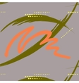 Abstract green and orange brush stroke with dashes vector image vector image