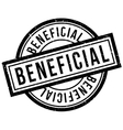 Beneficial rubber stamp vector image vector image