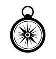 black icon compass cartoon vector image
