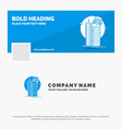 blue business logo template for building smart vector image vector image